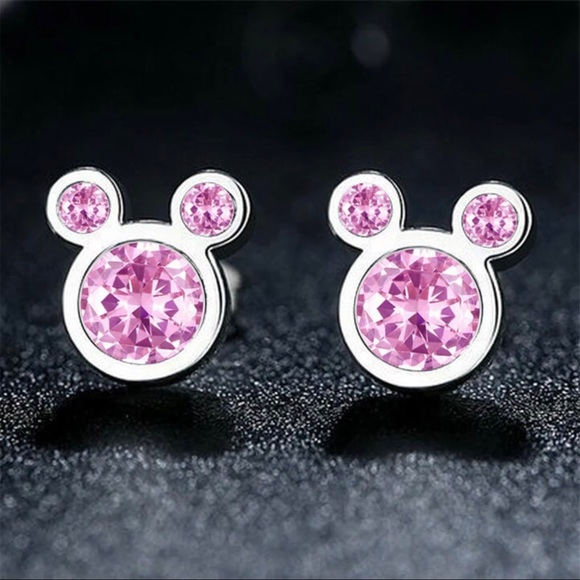 925 Silver Jewelry - Stamped 925 Sterling Silver Earrings Mickey Minnie